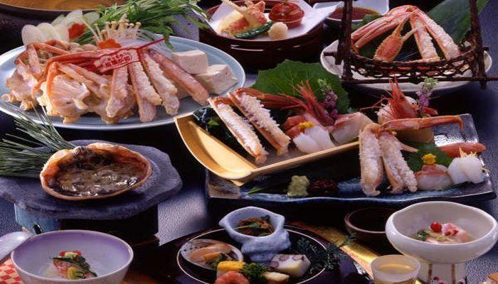 皆生菊乃家のカニ料理
