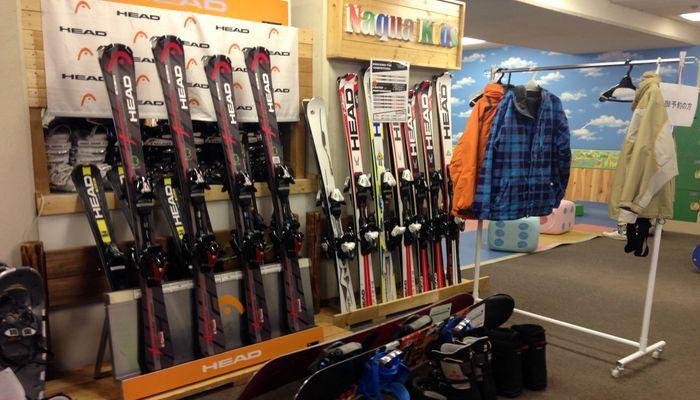 鰺ヶ沢スキー場のレンタルコーナー