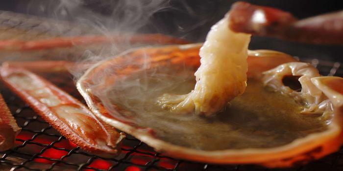 蟹みそと焼き蟹