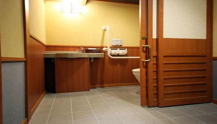 バリアフリーのトイレ