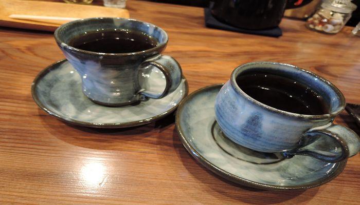 益子焼のコーヒーカップ