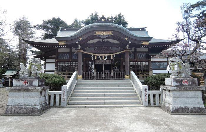 水海道天神社(拝殿)