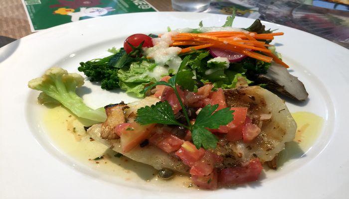 的鯛のオリーブオイル焼き