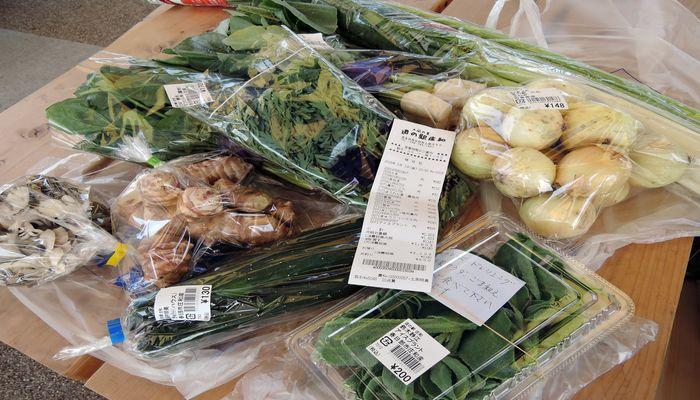 道の駅庄和の農産物直売所で買った野菜