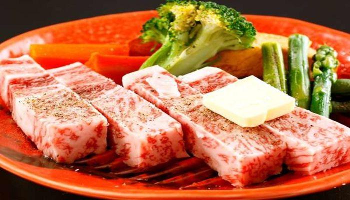 相州牛のステーキ