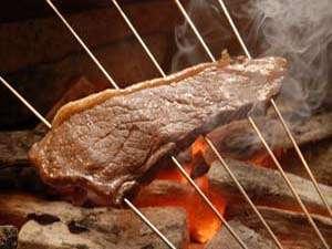 但馬牛の炭火焼き