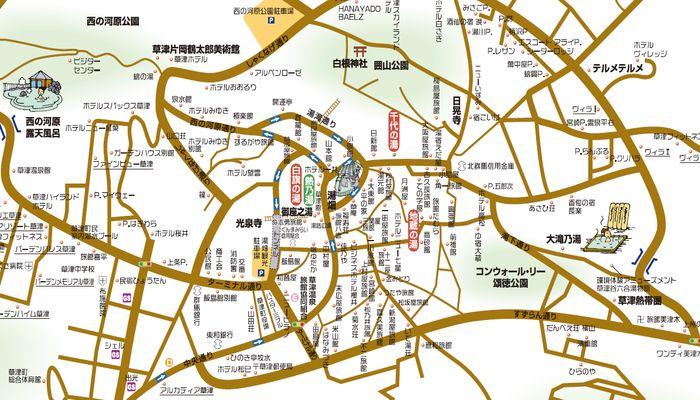 温泉街マップ