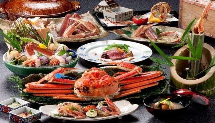 松葉蟹のフルコース