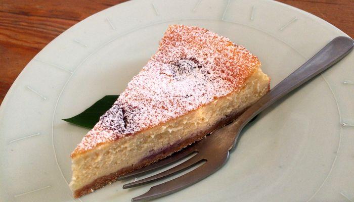 ブルーベリーのチーズケーキ