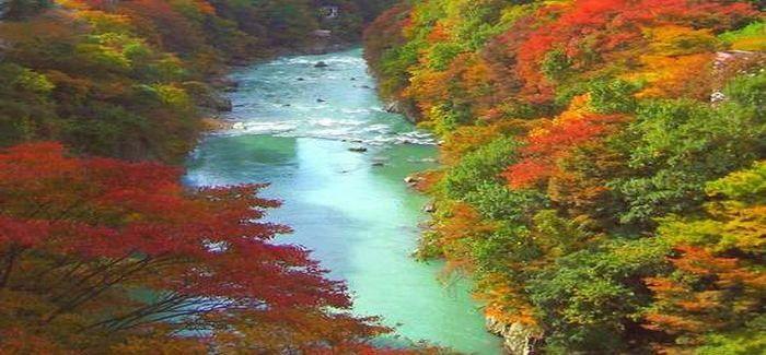 紅葉の鬼怒川