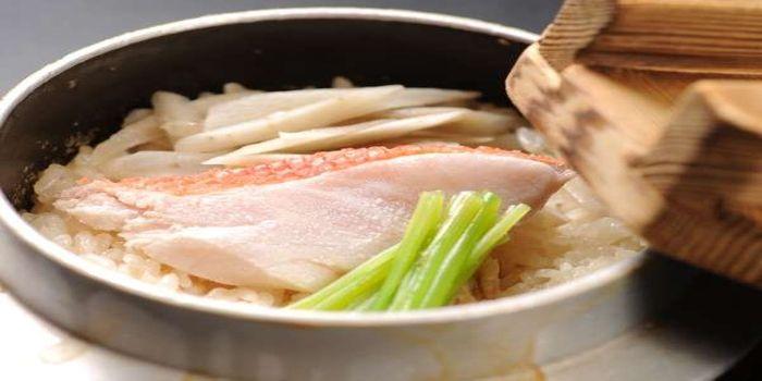 金目鯛の釜飯