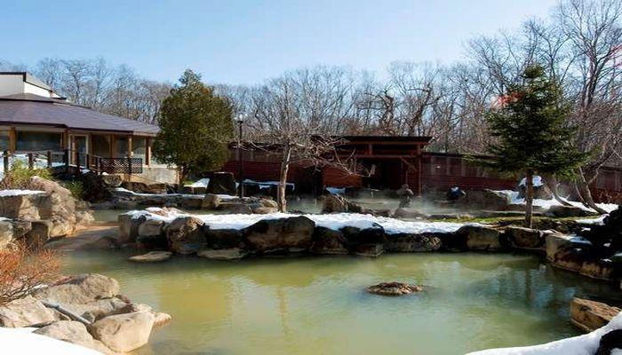 冬の露天風呂