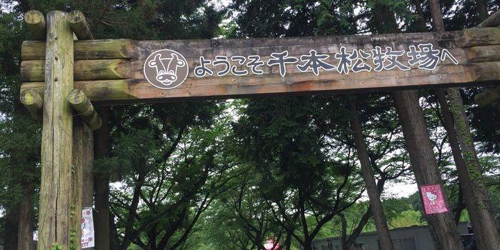 那須千本松牧場の入口