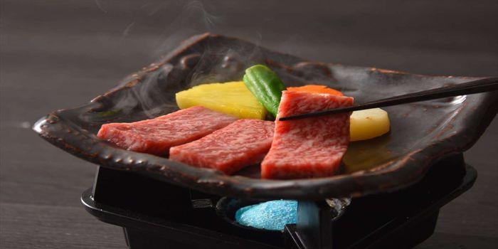 和牛の陶板焼き
