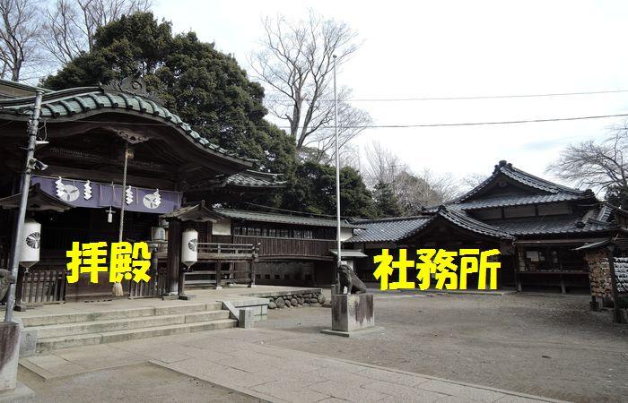雀神社の社務所