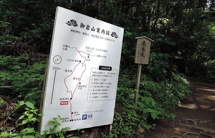 立て看板(御岩神社案内図)