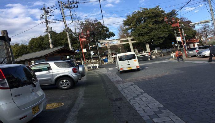 秩父神社の参道(鳥居前)