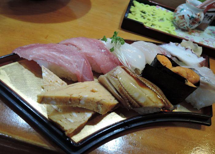 地魚の握り寿司