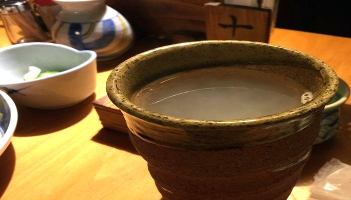 焼酎の蕎麦湯割り