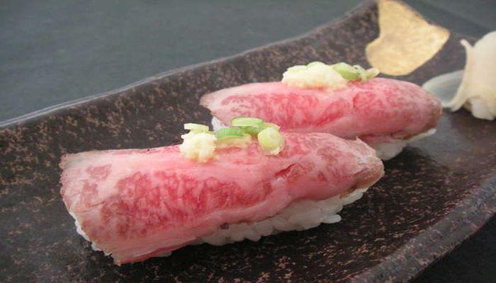 前沢牛の握り寿司