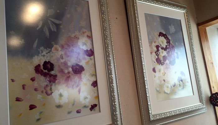 押し花の絵画