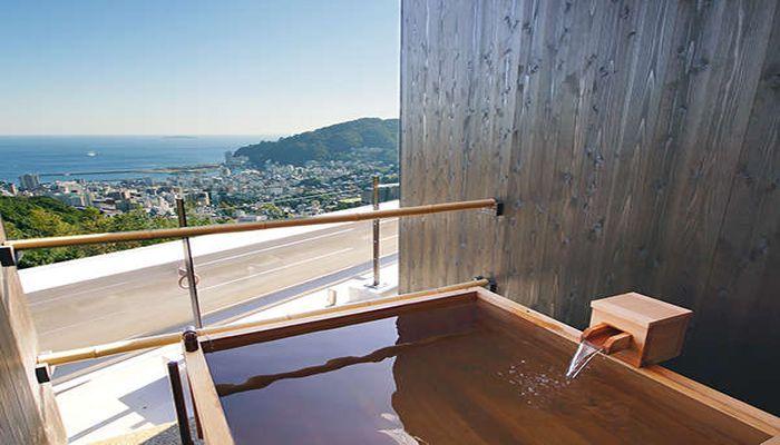 貸切露天風呂(昼間の景色)