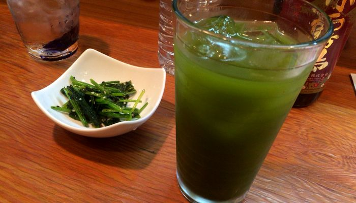 抹茶の緑茶ハイ