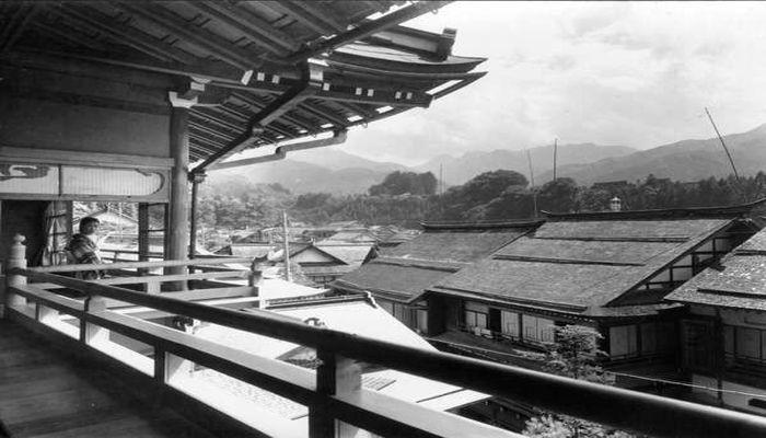 斉月楼4階からの眺め(昭和11年)
